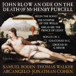 Cover : An Ode on the Death of Mr Henry Purcell & other works